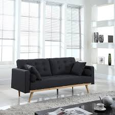 Industrial Living Room by Furniture Industrial Living Room Using Dark Grey Tufted Couches