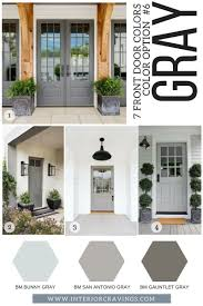 7 front door colors to make your home stand out gray front doors