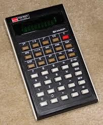 vintage sharp electronic pocket elsi mate calculator model el 500