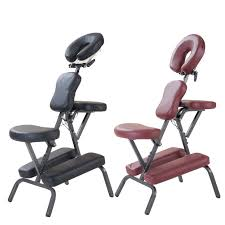 modern portable leather pad massage chair with free carry bag