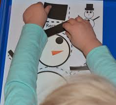 build a snowman with shapes
