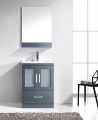 24 Bathroom Vanity With Drawers Virtu Usa Zola 24 Single Bathroom Vanity Cabinet Set In Grey