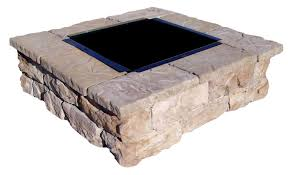 Brick Fire Pit Kit by Square Fire Pit Kits Natural Concrete Products