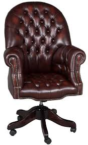 Leather Office Desk Chair Tufted Leather Desk Chair