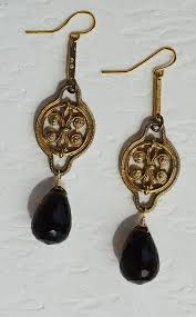 smoky quartz earrings vintage gold tone smoky quartz earrings seacoast soul