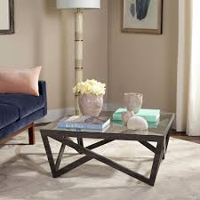 Waterfall Glass Coffee Table by Coffee Table Accent Tables Living Room Furniture The Home Depot