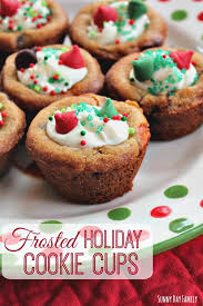 frosted holiday cookie cups easy christmas cookies to make