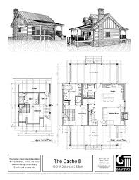 small 2 story log cabin floor plans