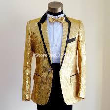 plus size mens gold blue white red sequins tuxedo suit wedding