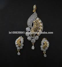designer diamond sets buy fancy designer diamond pendant set c4982 buy artificial