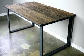 diy reclaimed wood table reclaimed wood desk diy custom made modern industrial dining table