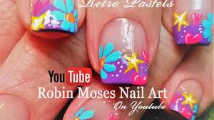 spring flower nails easy diy daisy heart and stars nail art
