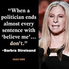Barbra Streisand Meme - funny quotes about donald trump by comedians and celebrities