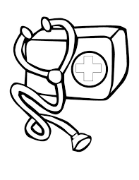 doctor medical bag kit coloring page coloring sky
