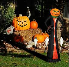8 foot halloween inflatable decoration airblown pumpkin head