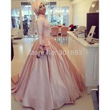 muslim engagement dresses owd912 hochzeitskleid robe de mariage pink satin formal