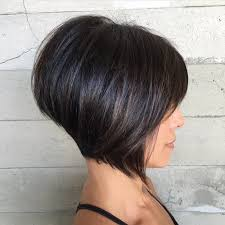 highlights for inverted bob women s short brunette inverted bob with bangs and highlights