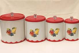 retro canisters kitchen vintage canister set tins w 1950s retro fruit print kitchen