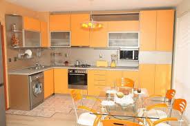rustic kitchen interior idea with brick walls also glass storage