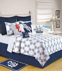 Anchor Bedding Set Knotty Buoy Quilt Quilt 90x92 Home Kitchen