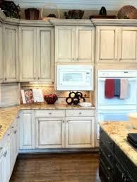 Kitchen Cabinets Repainted by Almond Glazed Kitchen Cabinets U2026 Pinteres U2026