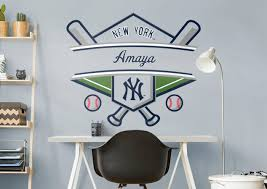 new york yankees personalized name wall decal shop fathead for new york yankees personalized name fathead wall decal