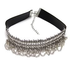 silver choker necklace images Amara silver choker trendy necklaces in india edgability png