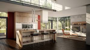Kitchen And Living Room Designs Kitchen Artsy Cottage Kitchen With Open Plan Scheme Also Kitchen