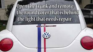 how to replace tail light bulb how to replace tail light bulb new vw beetle youtube