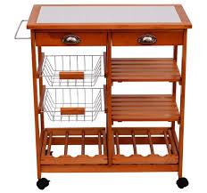 desserte de cuisine en bois à roulettes meuble rangement cuisine chariot de service desserte à roulettes