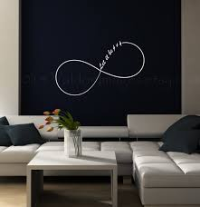 infinity let it be wall decal dorm room wall decor bedroom