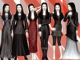 sims and just stuff morticia from the addams family sims 3 by