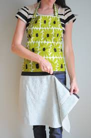 h is for handmade hand towel apron with zipper tutorial