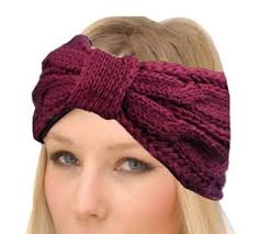winter headbands hair accessory headband white crochet fall
