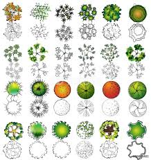 a treetop symbols for architectural or landscape design wall