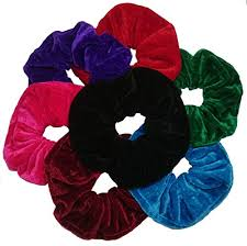 hair scrunchie aadya set of 7 large 11cm velvet hair scrunchies