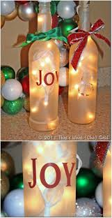 Wine Bottles With Lights 20 Festively Easy Wine Bottle Crafts For Holiday Home Decorating
