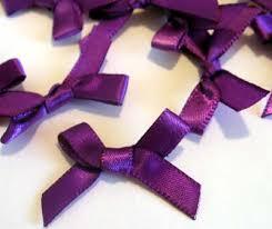 purple satin ribbon purple satin ribbon 6mm bows