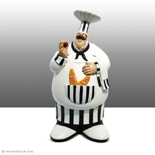 italian chef decor for kitchen the baker kitchens fat figurines