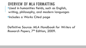 Writing A Research Paper Mla Format Documentation In Mla Format Ppt Download