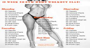 home work out plans 10 week no gym home workout plan