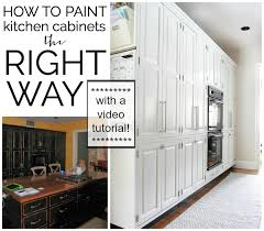 How To Refinish Kitchen Cabinets With Paint Video Tutorial How To Paint Kitchen Cabinets The Chronicles Of Home