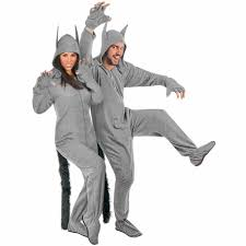 werewolf costume halloween city grey wolf halloween costume fleece footed pajamas ready to