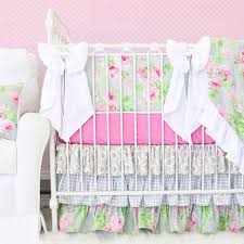Pink Floral Crib Bedding Floral Crib Bedding Baby Flower Bedding Caden