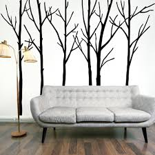 mesmerizing woodland tree wall art decal kit tree wall art with