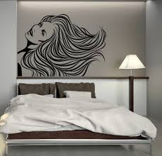 aliexpress com buy hair salon vinyl wall decal sexy girl long aliexpress com buy hair salon vinyl wall decal sexy girl long hair woman barbershop mural wall sticker hair shop beauty salon bedroom decoration from