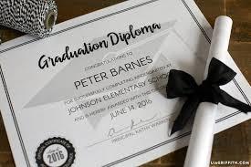 graduation diploma printable graduation diploma lia griffith