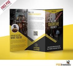 professional brochure design templates multipurpose trifold business brochure free psd template