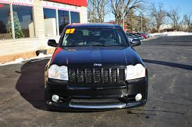 blue jeep grand cherokee 2007 jeep grand cherokee srt black used 4x4 suv sale