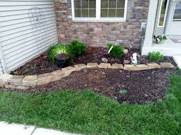 Formal Front Yard Landscaping Ideas - beautiful no grass formal front yard garden design with lavender